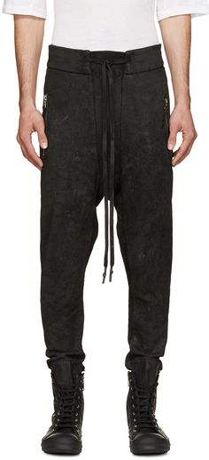 11 by Boris Bidjan Saberi - Black Coated Lounge Pants