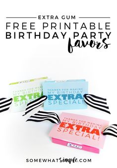 Birthday Party Favors + Free Printable