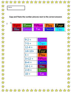 Cut and Paste Practice with Numbers | K-5 Computer Lab Technology Lessons