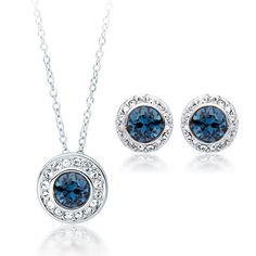 Angelic Set with Swarovski® Montana Crystal
