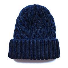 Pure Blue Japan Indigo Dyed Knit Beanie (Ver. A)