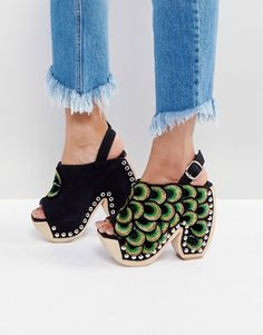 4c78d28018f Jeffrey Campbell Tove Peacock Platform Heeled Sandals