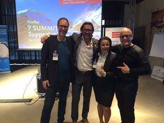 Bernd Sturm, Oliver Geisselhart, Nicole M. Pfeffer, Andreas Buhr während des fünften 7 Summits Supporter Day 2016 in Hamburg - tausend Dank an den Initiator Steve Kroeger!