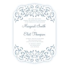Laser cut Wedding Invitation frame Card SVG template от NarisariDigitalArt