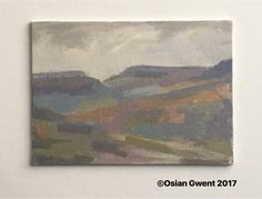 Patchwork Landscape oil on canvas board