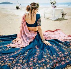 Indian bridal wedding lehenga choli by now UK Indian Lehenga, Silk Lehenga, Sari, Royal Blue Lehenga, Ghagra Choli, Designer Bridal Lehenga, Indian Bridal Outfits, Indian Dresses, Wedding Outfits