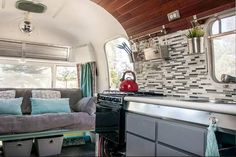 Kitchen Sinks Remodeling This 1976 Argosy Airstream Camper Remodel Will Blow Your Mind! - This 1976 Argosy camper remodel is gorgeous! You'll get tons of great inspiration from this makeover!