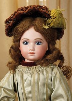 Very Beautiful French Bisque Bebe A.T. by Thuillier. Marks: A. 10 T. Comments: Andre Thuillier, circa 1885.