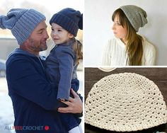 Learn how to make crochet hats for the whole family with these free crochet hat patterns. You'll find beginner crochet hat patterns for Mom, Dad, children, and babies in all styles--brim hats, earflap hats, sun hats and more!