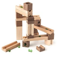 ThinkGeek :: Classic Blocks & Marbles Set
