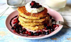 Cooking with Šůša : Pohankové lívance s jablky a skořicí Crepes, Granola, Pancakes, Food And Drink, Baking, Breakfast, Fitness, Blog, Ideas