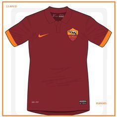 Leaked/rumors 2014: i disegni ufficiosi delle maglie away e home NIKE per AS ROMA. | La Guida del Calcio