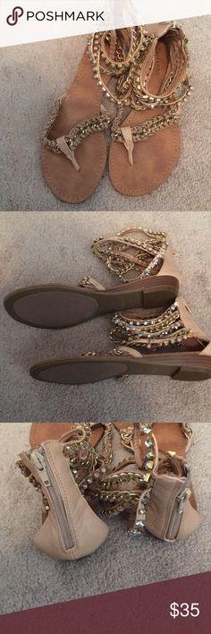 New zigi so ho Gladiator sandals Zigi soho gladiator bling sandals! Zigi Soho Shoes Sandals