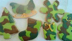 Camo Christmas Cookies