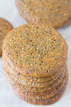Chia Seed Wafer Cookies...Chia Seed Wafer Cookie Recipe: ¾ cup chia seeds ¼ cup whipped butter, softened 1 egg white ½ cup coconut sugar ½ cup agave nectar ½ tsp. vanilla extract ½ cup flour ¼ tsp. salt ¼ tsp. baking powder