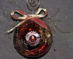 Steampunk Christmas ornament!