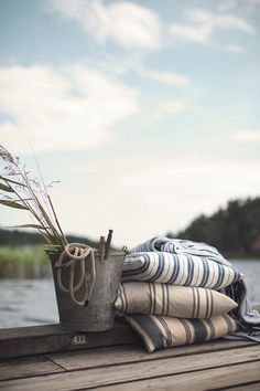 High Summer Collection at Gant Lakeside Living, Coastal Living, Lakeside Cottage, Lake Cottage, Summer Feeling, Summer Vibes, William Morris, Lake Life, Belle Photo