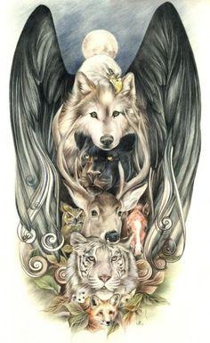 Totem Drawing