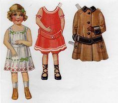 Paper Dolls Clothing, Paper Dolls Printable, Bobe, Paper Fashion, Doll Painting, Vintage Paper Dolls, Paper Toys, Children's Book Illustration, Vintage Images