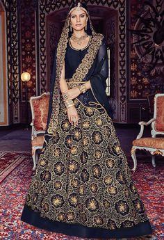 Midnight Blue #Designer #Anarkali Suit