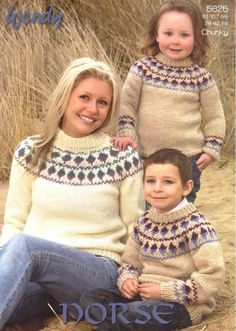 fe542dbc42 KNITTING PATTERN WENDY 5625 FAIRISLE YOKE SWEATERS £2.65  febfolks Jumper Knitting  Pattern