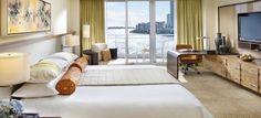 Contemporary Boutique Hotel Interior Design of Mandarin Oriental Hotel Miami, Florida Deluxe Bay Suite