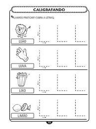 Resultado de imagem para atividades com a letra l para educação infantil