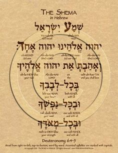The Shema Prayer Hebrew Poster with complete transliteration and translation into English. Learn the Shema prayer in Hebrew. Hebrew Prayers, Hebrew Bible, Learn Hebrew, Hebrew Words, Hebrew Sayings, Short Verses, English To Hebrew, Hebrew School, Aramaic Alphabet