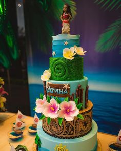 "56 Likes, 2 Comments - Lavanda Creations (@lavanda.creations) on Instagram: ""Atina's Party Third Birthday Party Moana Theme . . . . . . . #bday #birthday…"""