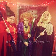 Sanderson Sisters Hocus Pocus DIY Girl Group Costume... This website is the Pinterest of costumes