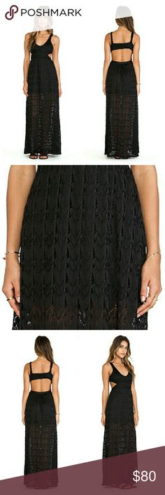 NWOT Black Lace Crochet Back Cut Out Maxi Dress New without tags. Too long on me :( Surf Gypsies Dresses Maxi