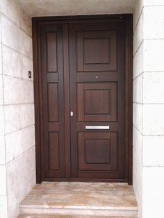 Single Door Design, Main Door Design, Wooden Door Design, Home Entrance Decor, House Entrance, Wooden Front Doors, Wood Doors, Hacienda Style Homes, Doors Galore