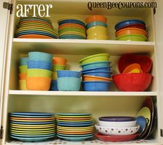 Clean and organize your kitchen in preparation for a garage sale! Get rid of that extra clutter.