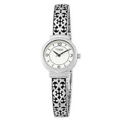 Caravelle by Bulova Women's 43L117 Bracelet Silver and Black Round Watch Caravelle by Bulova, http://www.amazon.com/dp/B002WN2MOA/ref=cm_sw_r_pi_dp_6iAxqb050NFT0