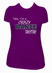 Custom dance mom shirt. Sparkly glitter dance shirt by SpiritLoft