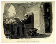 Lemud, Claude Frollo sitting in his room Paris Pictures, Angel Art, Cool Drawings, Cathedral, Medieval, Novels, Fan Art, Victor Hugo, Artwork