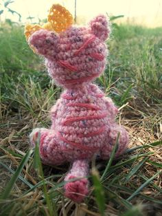 Custom Order  Pink Amigurumi Tiger by WyandotteWears on Etsy, $6.00