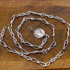 manly sailor's square knot necklace sterling silver by markaplan