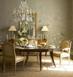 gournay dining silk modern degournay duck egg chatsworth interior earlham inspiration area