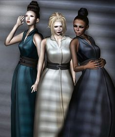"""All it says here is """"NEW Dresses from NYU"""" along with a SLurl (that's a landmark into Second Life for non-Resident followers) and a blog entry.  But I'm getting a hankering to head to that store now; this is the second piece from them I've pinned."""