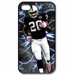 iPhone 4/4s hard case with Oakland Raiders Darren McFadden art painting