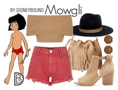 """""""Mowgli"""" by leslieakay ❤ liked on Polyvore featuring River Island, Janessa Leone, Blue Vanilla, Sole Society, disney, disneybound and disneycharacter"""