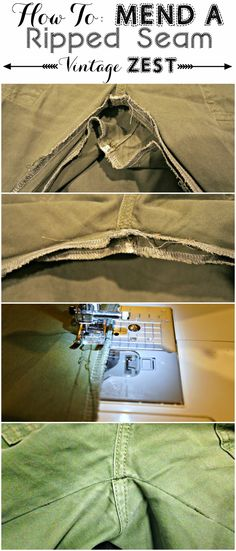 Today, I have a super easy tutorial for sewing newbies on how to mend a ripped seam.  Why is this necessary