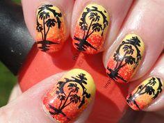 Canadian Nail Fanatic: Beach Themed Gradient