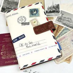 Disaster Designs Paper Plane Cream Travel Wallet at lisaangel.co.uk