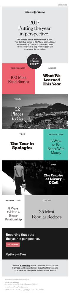 Want to see the best email newsletters from publishers and get some inspiration? Take a look at these awesome 2018 examples of email newsletters. Email Marketing Design, Email Marketing Campaign, Layout Design, Web Design, Graphic Design, Loyalty Marketing, Email Layout, Email Design Inspiration, Design Ideas