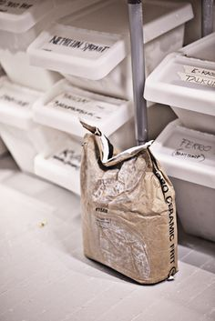 IKEA recycling bins used in pottery/ceramic studio