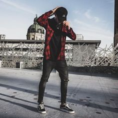 Our new Cap and Ripped Flannel Shirt are now available in our Onlineshop bringin in some heat Red Flannel Outfit, Mens Flannel Shirt, Mode Man, Teen Boy Fashion, Mens Clothing Styles, Kind Mode, Swagg, Urban Fashion, Menswear