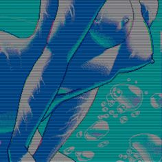 80s aesthetic | gif gifs anime water 90s neon pixel art nudity neon genesis evangelion ...