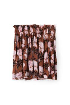 Monette Georgette Skirt, Brandy Brown